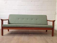 Scandinavian furniture. Original Vintage Mid Century Sofa Retro 50s 60s 70s Danish Antique Chair Tweed