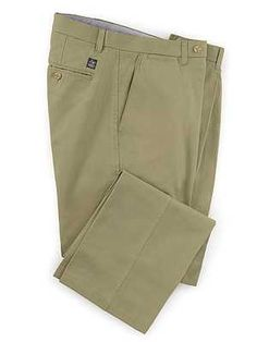 bf431a34dcb31 Flat Front Chino Trousers - Light Khaki Windsor Shoes