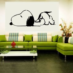 Snoopy Vinyl Wall Decal by ItsOnTheWallsDecals on Etsy, $23.00,