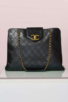 Vintage Chanel Quilted Super Model Tote - Vintage Chanel Bags