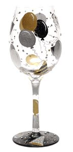 celebration wine glass features a design inspired by a delicious wine ...
