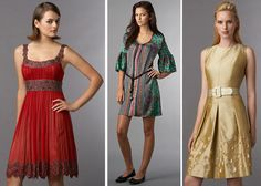 3 cute, short dresses the would be great either longer or with matching shrugs