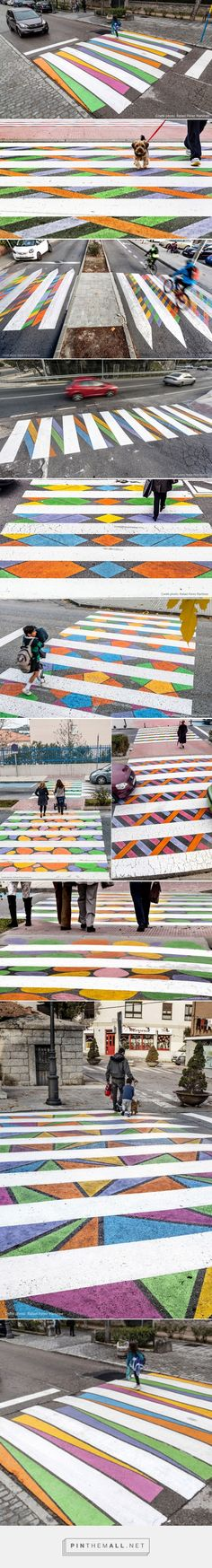 Artist Christo Guelov Creates Dozens of Colorfully Alternative Pedestrian Crossings in Madrid | Colossal - created via https://pinthemall.net