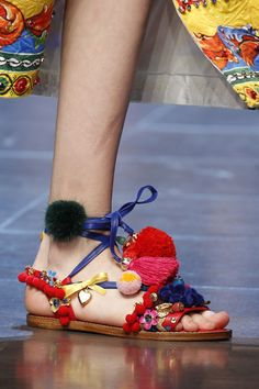 90e42399542 Add pep to your step with brightly colored sandals this summer. Via  Glamour.com. Alžběta Rácová · Boty