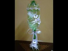 Best Out of Waste Plastic Bottles and Can transformed to Decorative Glass Show piece