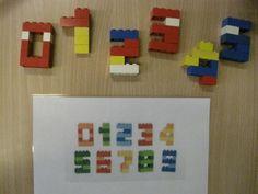 cijfers nabouwen met lego