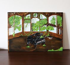 Abandoned Piano  50x70cm  ©Billy Acrylic Painting Canvas, Abandoned, Piano, Art, Left Out, Art Background, Kunst, Pianos, Performing Arts