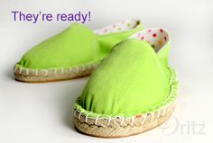 Sewing Tutorial: How to Make a Pair of Espadrilles - ready to wear!