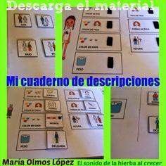 Gracias a María Olmos López  (nueva hierbita colaboradora) tenemos un cuadernillo interactivo para trabajar las descripciones. Listo par...