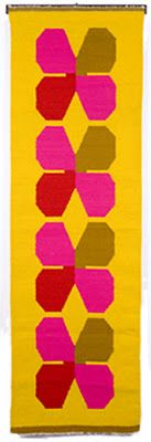 """Evelyn Ackerman """"Clovers"""" tapestry   Handwoven wool 1963"""