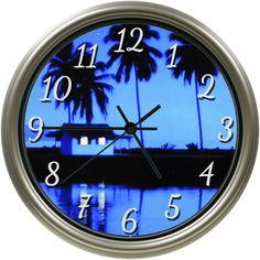 """Handmade 8.75"""" Diameter Custom Photo Wall Clock / Quality Quartz Movement / Plastic Frame / Glass Lens / Requires 1 AA Battery to Operate (not included). Proudly Assembled in the USA. 30 Day Money Back Guarantee."""