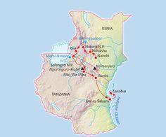 """Rondreis Tanzania, Kenia? Familiereis """"Kamperen in de wildernis"""""""