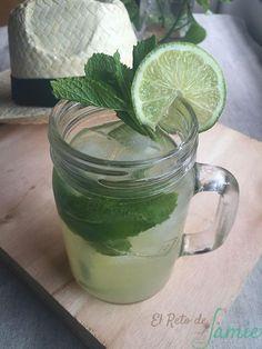 Refrescante limonada de hierbabuena, jengibre y lima | Cocinar en casa es facilisimo.com