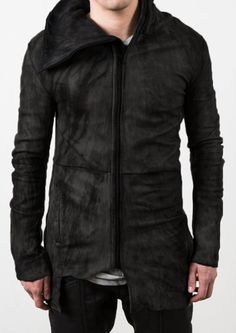 Delusion DISORDER LEATHER JACKET DARK GREY - Delusion from Delusion UK