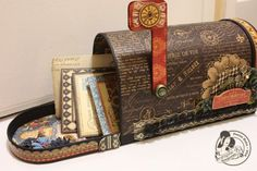 Love this altered French Country mailbox by Denise Hahn! Stunning! #graphic45