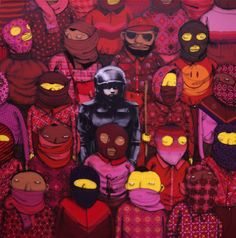 Os Gemeos teams-up with Banksy as a part of his ongoing New York residency