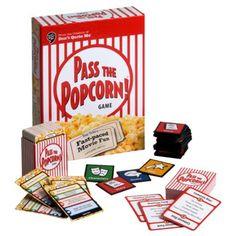 Pass the Popcorn Game - Movie night basket