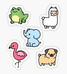 Frog stickers featuring millions of original designs created by independent artists. Decorate your laptops, water bottles, notebooks and windows. White or transparent. 4 sizes available. Stickers Cool, Preppy Stickers, Bubble Stickers, Kawaii Stickers, Printable Stickers, Mini Drawings, Kawaii Drawings, Easy Drawings, Tumblr Sticker