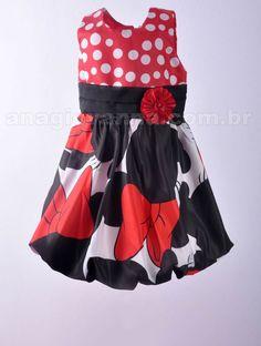 Vestido para festa da Minnie Mouse modelo luxo - Confira aqui: http://anagiovanna.com.br/produtos/1/vestidos-infantil/3/minnie