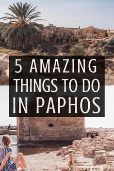 5 amazing things to do in Paphos, Cyprus. Here's a guide for what to do in the beautiful secret town of Pafos (archaeological sites, Tombs of the Kings etc) Paphos Old Town, Cyprus Paphos, Cyprus Holiday, Visit Cyprus, Stuff To Do, Things To Do, Europe Travel Guide, Europe Destinations, English Castles