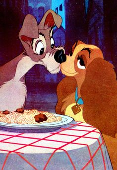 The 29 Most Iconic Movie Kisses of All Time for International Kissing Day - Lady and the Tramp from InStyle.com