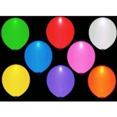 Ballons de baudruche lumineux