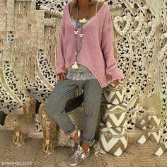 Women's V Neck Long Sleeve Knitted Pullover Jumper Sweater Casual Tops Lot Loose Knit Sweaters, Casual Sweaters, Cotton Sweater, Pullover Sweaters, Sweaters For Women, Knitting Sweaters, Casual Tops, Cardigans, Long Sleeve Sweater