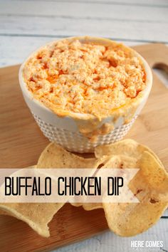 This Buffalo Chicken Dip is AMAZING and is the perfect food for your game day party!