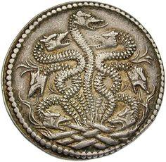 Herzogtum Ferrara. Ercole (Herkules) I. d`Este (1471-1505). Testone o. J. ( 1492/93). 1492 - 1493. Ø 2,77 cm 7,67 g. Silber.