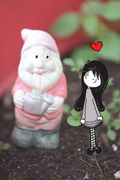 I love Garden Gnome #gardengnome #dwarf #illustration #gnome