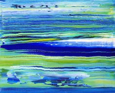 ABSTRACT CONTEMPORARY MODERN SEASCAPE ART PAINTING ON CANVAS *BARGAIN CLEARANCE*