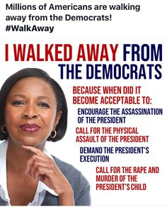 I walk away from the Democrats, because I believe President Trump can fight against corruptions! Political Quotes, Political Views, Mantra, Liberal Logic, Liberal Politics, Politicians, Trump Is My President, Conservative Politics, Conservative Quotes