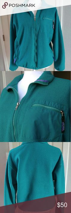 Patagonia Classic Retro-X jacket Excellent pre owned condition. Size 12 teal green. Comes with pockets on sides and one zipper pocket on top left Patagonia Jackets & Coats