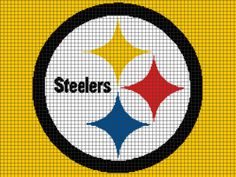 Pittsburgh Steelers Crochet Graphghan Pattern (Chart/Graph AND Row-by-Row Written Instructions) on Etsy, $12.00