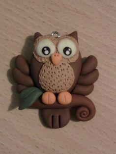 Paper Owl,Owl Die Cut,Scrapbook Die Cut,Scrapbooking Die Cut,Owl Decoration,Owl Embellishment, Please visit my shop at https://www.etsy.com/shop/MyParfum, CUTE CUTE POLYMER CLAY OWL PENDANT