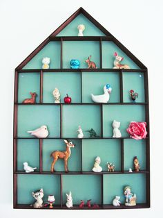 Beautiful display of figurine collection by margo slingerland