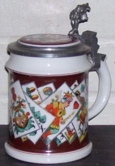 Tarot card stein Divine Tarot, Beer Stein, Tarot Cards, Magick, Ford, Pottery, Fantasy, Mugs, Tableware