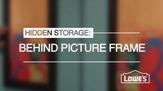 Hidden Storage Behind a Picture Frame