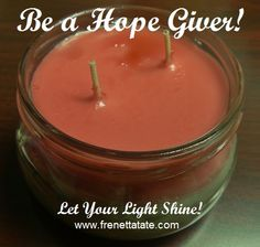 May you be filled to the brim with hope today and pass it on to someone else! ‪#‎EmpowerMyLifeFrenetta