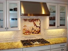 """Neutralize"" your Kitchen with Neutral Backsplash Ceramics: Vineyard After Pictures Of Backsplash Mural Repstein ~ topdesignset.com Kitchen Designs Inspiration"