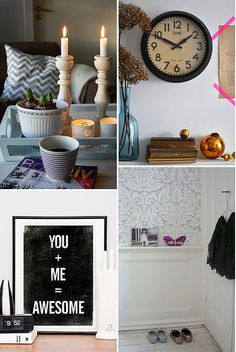 Decorative trim just wide enough to hold small trinkets (bottom right photo). via Decor8