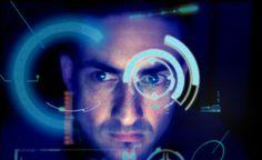 Self Portrait w/ Iron Man H.U.D. created in Photoshop.