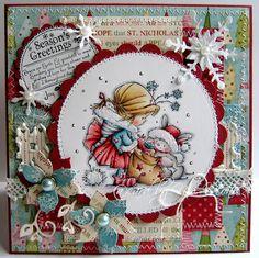 Nixe07 - Moni´s creative place: Season´s Greetings ... Bunny Zoe´s Crafts Monthly Challenge #17
