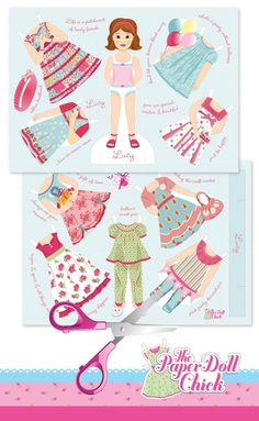 Paper Doll. Love these paper dolls ready to cut and play from www.thepaperdollchick.com.au
