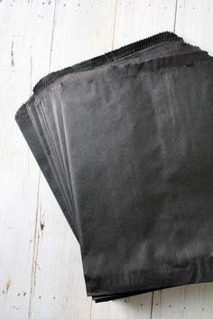 Black Paper Bags