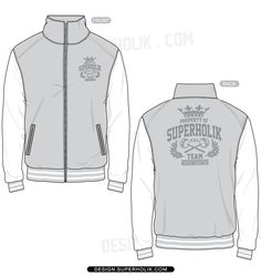 varsity jacket women technical drawing - Cerca con Google