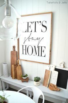 Modern Industrial Farmhouse Kitchen nook...love the sign!!!