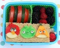 My friend Caren's blog. My kids would LOVE this Angry Birds lunch! (they'd love it, but they probably wouldn't eat it. Picky.)