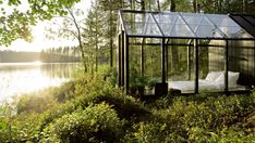 Finnish architecture practice Avanto has designed this attractive modular greenhouse and garden shed system for gardening company Kekkilä.