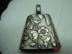 Antique French Silver Rattle Art Nouveau Deco | eBay